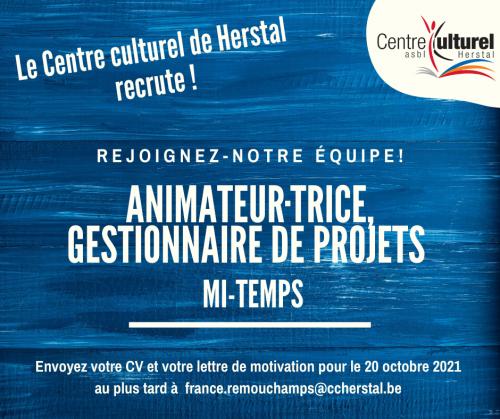 Le Centre culturel de Herstal recrute (1)